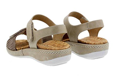 Chaussure femme confort en cuir Piesanto 1909 sandales à semelle amovible confortables amples Visón