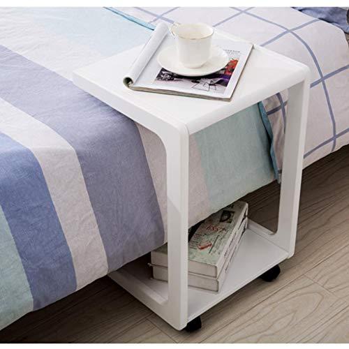 M-JH Table d'appoint, Support Mobile d'ordinateur Portable de Table Basse de Table Basse d'extrémité de Sofa Mobile en Bois de Stockage de roulettes de roulement (Couleur : C)