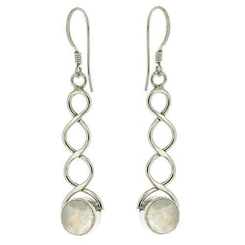 Nova Silver NSE02/M - Pendientes de mujer de plata con piedras lunares