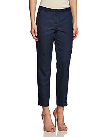 TOM TAILOR Damen Straight Leg Jeans Structured Pant/402, Gr. W36/L33 (Herstellergröße: 36), Blau (real navi blue)