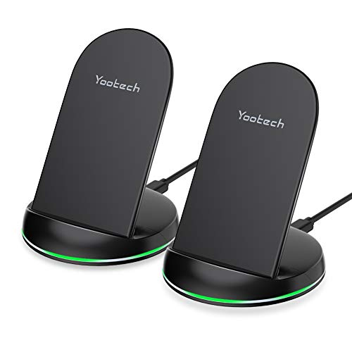 YOOTECH Wireless Charger, [2-Pack] 7,5W Qi Wireless Ladestation für iPhone XS MAX/XR/XS/X/8/8 Plus, 10W Fast Ladegerät Induktive für Galaxy S10+/S10/S10e/Note 9/S9/S9 Plus/ Note8/S8/S8 Plus/S7