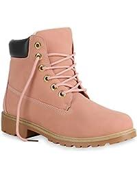 cb1c31aad3b073 Stiefelparadies Unisex Damen Herren Stiefeletten Worker Boots Übergrößen  Warm Gefüttert Flandell