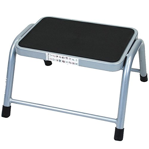 crazygadgetr-1-step-stool-metal-anti-slip-rubber-mat-lightweight-safety-non-slip-mat-heavy-duty-stee