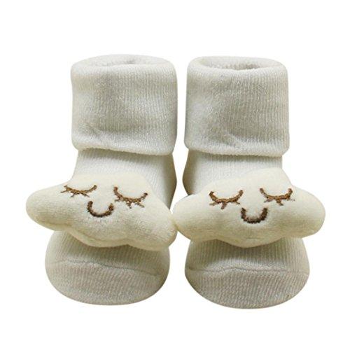 ZIYOU Unisex Baby Warme Ankle Socken Nette Hausschuhe Baumwoll (B)