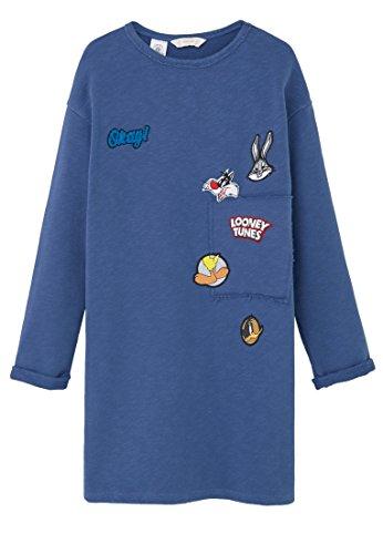 mango-kids-kleid-looney-kleider-tunes-size7-8-jahre-colormarineblau