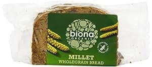 Biona Organic Gluten Free Millet Wholegrain Bread 250 g (Pack of 3)