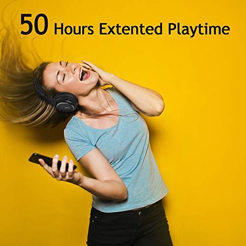 Noise Cancelling Kopfhörer bis 48 Std. Abspielzeit, Bluetooth Kopfhörer DOMAX M1, Noise Cancelling Kopfhoerer Komfortable, HiFi Stereo Over Ear Kopfhörer - 6