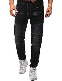 a15be27062 Pantalones Vaqueros Hombre Elasticos Originales Slim Fit Pantalones  Deportivos Personalidad Denim Pantalón Pitillo STRIR (36