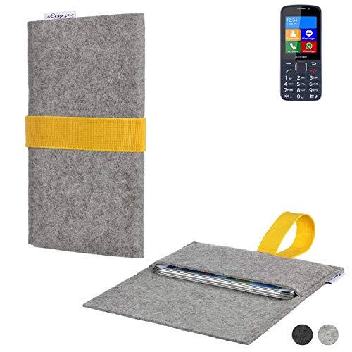 flat.design Handy Hülle Aveiro für bea-fon SL820 handgefertigte Filz Tasche Case Sleeve fair