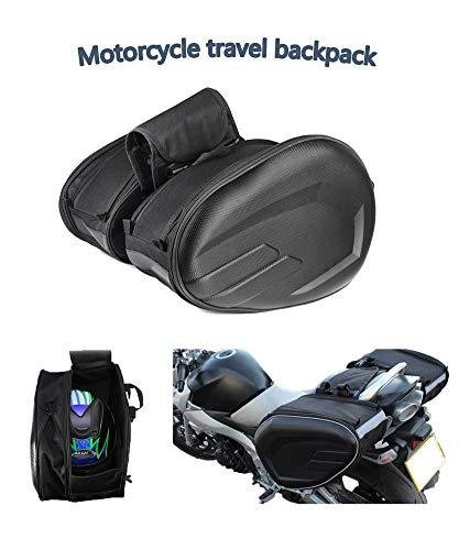 Pacchetto Moto Laterale Borsa in Fibra di Carbonio Custodia Zaino da Viaggio per Moto Impermeabile Borsa da Locomotiva Borsa di Grande capacità