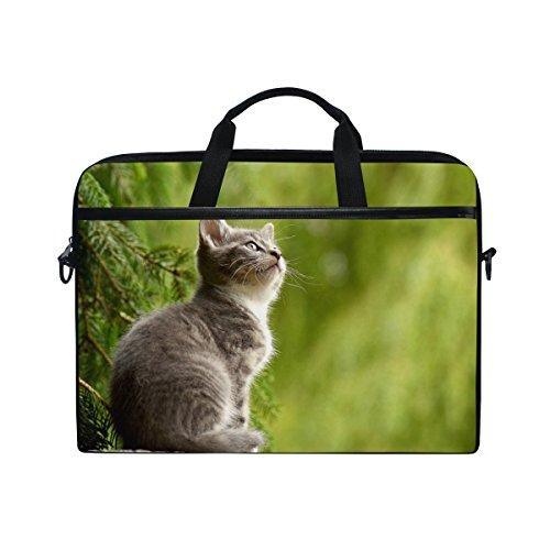 Ahomy 38,1-39,1cm Laptop Laptop, Kratzbaum Canvas Stoff Tasche zudem Handtasche mit Schultergurt für Damen und Herren