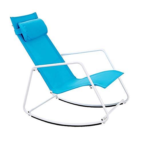 Bseack Rocking Chair, Ergonomique Design Repose-Tête Amovible Secouez La Nature Balcon Jardin Paresseux Loisir/Déjeuner Chaise