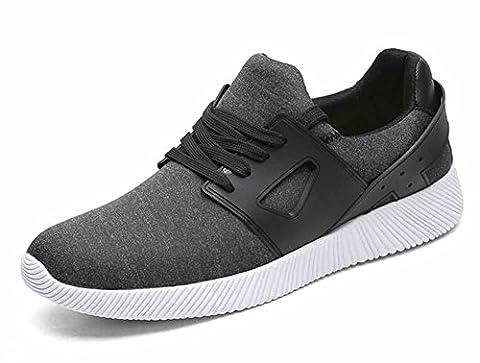 Hommes Chaussures de sport décontractées Automne Nouveaux chaussures de course respirantes à grande taille 45-48 ( Color : Black , Size : 48 )
