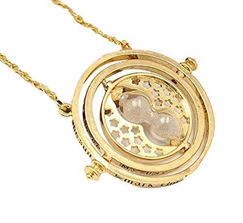 Spedito da ITALIA - Collana Pendente ciondolo di metallo giratempo hermione HARRY POTTER colore oro