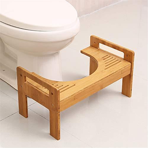 Jeteven Toilettenhocker Badezimmer Squatty Potty Erwachsene Kind, aus Bambus, gesunde Sitzhaltung...