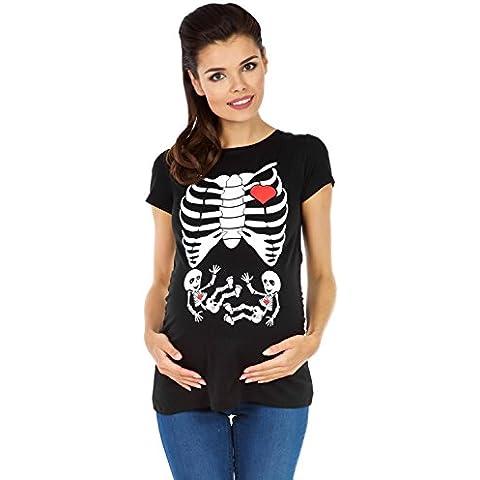 Zeta Ville - T-shirt Camiseta Premamá estampado X-Rayos - para mujer - 254c