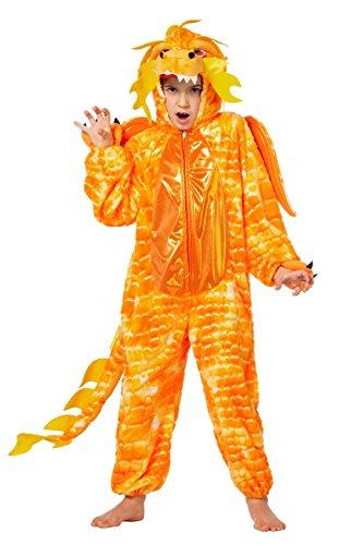 Chinesischen Drachen Kostüm Kindes - W99360-152 orange Kinder Chinesischer Drache Drachen Kostüm Gr.152