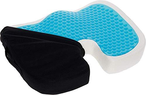Therapeutische, Memory-schaum (Mindful Design Sitzkissen aus Memory-Schaum, Steißbein, Ischias, therapeutisches Stützkissen mit Kühlgel für Rollstuhl, Büro und Reisen)