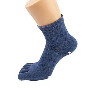 Maybesky Yoga Socken Baumwolle fünf Finger Anti-Rutsch-Socken Deodorant Atmungsaktiv Pilates, Anti-Rutsch-Slip-Socken