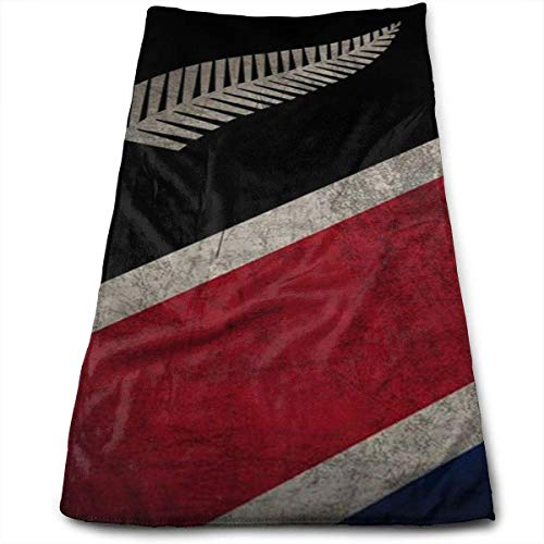 hgfdhfgjrfj New Zealand Flag 100% Cotton Towels Ultra Soft & Absorbent Bathroom Towels Great Shower Towels, Hotel Towels & Gym Towels