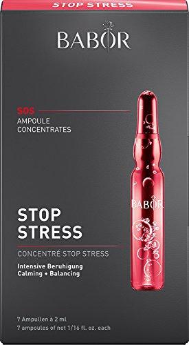 BABOR AMPOULE CONCENTRATES Stop Stress, Gesichtspflege für empfindliche Haut, mit wildem Indigo,...