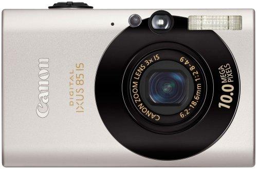 Canon Digital IXUS 85 IS Digitalkamera (10 MP, 3-fach opt. Zoom, 6,4cm (2,5 Zoll) Display, Bildstabilisator) schwarz Canon Digital Ixus Zoom