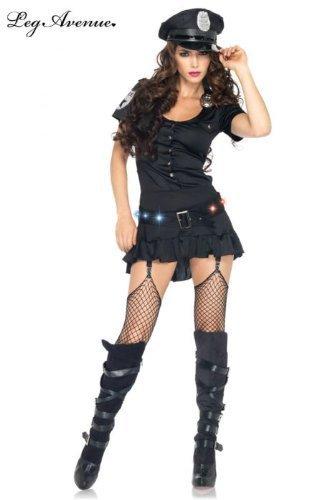 Avenue Polizei Kostüm Leg (Leg Avenue 83952 - Sergeant Sexy Kostüm, Größe L,)