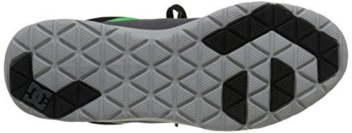 DC Heathrow Skate Shoe, Black/Grey/Green, 14 M US Black/Grey/Green