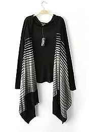 New Ladies 'rayas Irregular Cardigan chal abrigo, small