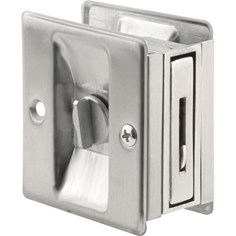 Prime-Line Products N 7161 Pocket Door Privacy Lock with Pull, Satin Chrome by Prime-Line Products (English Manual)
