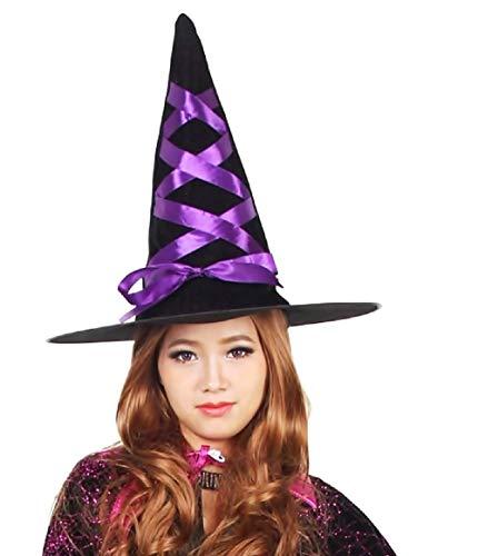 Inception pro infinite cappello da strega - colore nero e viola - velluto - travestimento - halloween - carnevale - bambini - donna - uomo - unisex