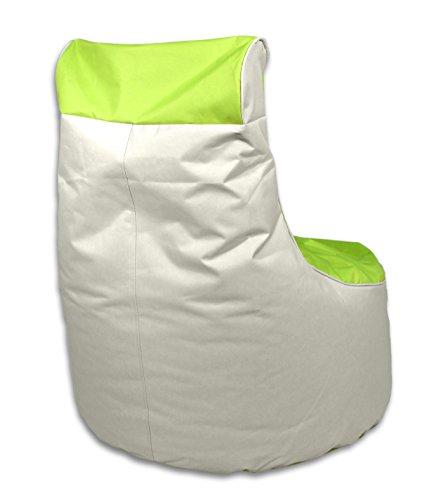 Kinzler S-10121/120 outdoorfähiger Sitzsack/Sessel, ca. 80x80x90 cm, 2-farbig, grün