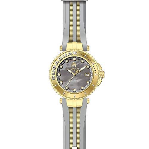 Invicta Subaqua Reloj de Mujer Cuarzo Suizo Correa de Silicona dial Gris 27355