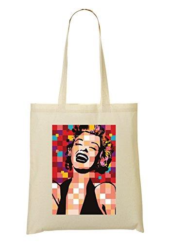 LukeTee Marilyn Monroe Pop Tragetasche Einkaufstasche
