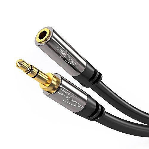 KabelDirekt - Klinken- Verlängerungskabel - 2m - (für Aux Eingänge, 3.5mm Stecker > 3.5mm Buchse) - PRO Series