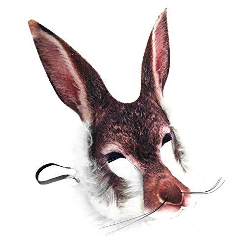 Realistisch Gesicht-maske Buchwoche Tier Zoo Dschungel Wald Creature Karneval Gesichtsmaske für Erwachsene und Kinder - Rabbit Hare (Große Einfache Kostüm Für Erwachsene)