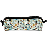 Cassette Tapes Multi-Purpose Polyester Fiber Pencil Case Student Stationery Cosmetic