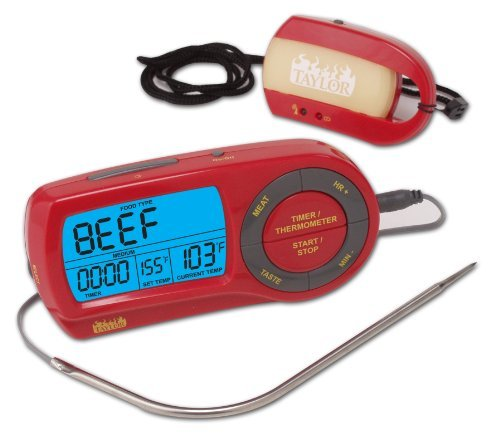 Taylor Weekend Warrior Wireless Thermometer mit Fernbedienung von Taylor Sprechendes Thermometer Taylor Thermometer