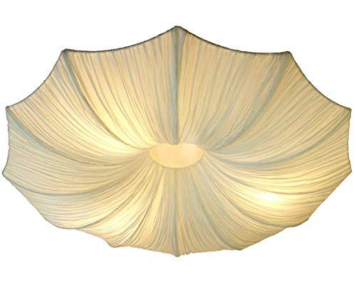 bambus-discount.com Deckenlampe mit Seidenstoff Schirm Simona, Durch. 80cm - Thai Deko Lampe - Asiatische Lampen Stehlampe, Stehleuchte, Tischlampe, Wandleuchte, Deckenlampe, Lampenschirm -
