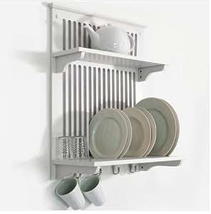 foxhunter k chenregal f r teller und tassen mit handtuchhalterung und haken k che. Black Bedroom Furniture Sets. Home Design Ideas