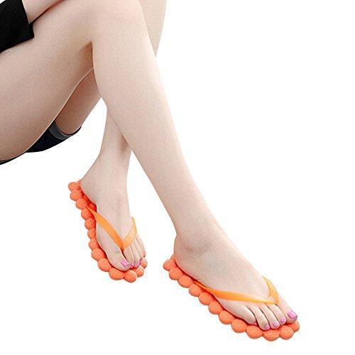 Infradito da Bagno Donna ,Bluestercool Flip Flops Estive Eleganti per Spiaggia e Piscina Floreale Arancione