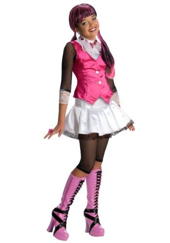 Monster High-Kostüm für Mädchen 110/122 (5-7 Jahre) (Draculaura Mädchen Kostüm)