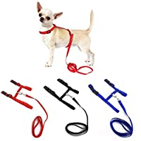 Casecover Small Pet Dog Harness And Leash Chihuahua Nylon Adjustable Pet Traction Belt Cat Dog Accessories Halter Dog Collar Random Color