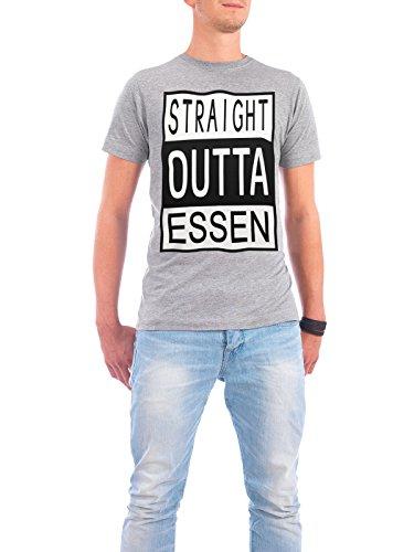 """Design T-Shirt Männer Continental Cotton """"Essen"""" - stylisches Shirt Typografie Reise von David Springmeyer Grau"""