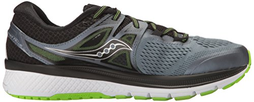 Saucony Triumph ISO 3, Chaussures de Running Homme Multicolore (Grey/black/lime)