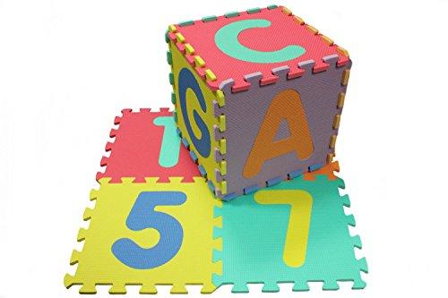 Puzzle Matte ABC Zahlen 86-teilig