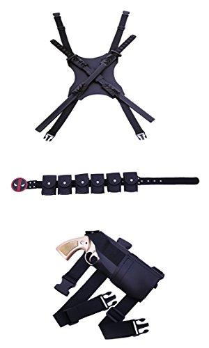 BOODUN Adult Halloween Cosplay Zubehör (Schwert Backstrap Mantel PU Ledergürtel Taktische rechtshändige Beinholster), Neu (Kostüm Gun Holster Gürtel)