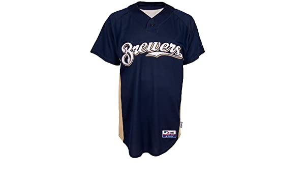 5d27b0c16 Majestic MLB Milwaukee Brewers Batting Practice Jersey (X-Large)   Amazon.co.uk  Sports   Outdoors