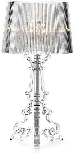 Lampada da tavolo in acrilico in stile barocco adatta for comodino camera da letto soggiorno studio ristorante bar cafe lampada da tavolo trasparente