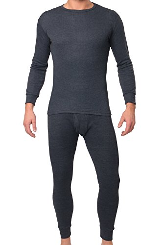 MT® Thermo Light Herren Thermowäsche Set (Hemd + Hose) Anthrazit-XL